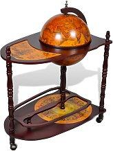 vidaXL Mueble bar de pie bola del mundo madera de
