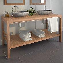 vidaXL Mueble de lavabo tocador madera de teca