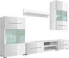 vidaXL Mueble de Pared 5 Unidades Gabinete TV con