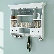 vidaXL Mueble de pared para cocina de madera blanco
