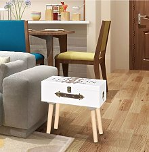 vidaXL Mueble mesa auxiliar blanco 40x30x41,5 cm -