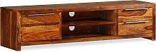 vidaXL Mueble para TV 120x30x30 cm madera maciza