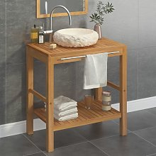 vidaXL Mueble tocador madera teca maciza con