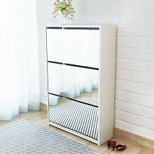 vidaXL Mueble zapatero blanco 3 compartimentos con