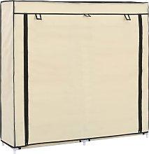 vidaXL Mueble zapatero con funda de tela color