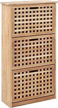 vidaXL Mueble zapatero de madera maciza de nogal