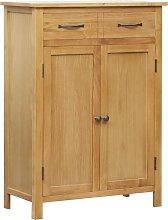 vidaXL Mueble zapatero de madera maciza de roble