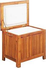 vidaXL Nevera portátil de madera maciza de acacia
