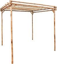 vidaXL Pérgola de bambú 170x170x220 cm