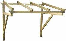 vidaXL Pérgola de puerta de madera maciza de pino