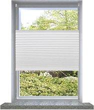 vidaXL Persiana Cortina plisada blanca 80x200cm