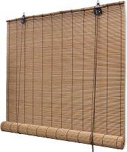 vidaXL Persiana enrollable de bambú marrón
