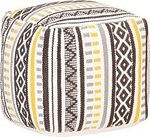 vidaXL Puf de diseño tejido de algodón