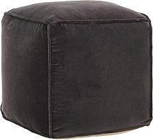 vidaXL Puf de Terciopelo de Algodón 40x40x40 cm