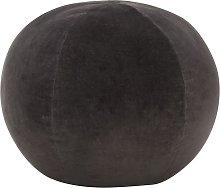 vidaXL Puf de terciopelo de algodón gris