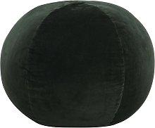 vidaXL Puf de terciopelo de algodón verde 50x35 cm