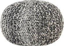 vidaXL Puf tejido a mano tela con aspecto de lana