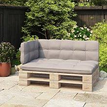 vidaXL Respaldo para sofá de palets 110 cm hierro