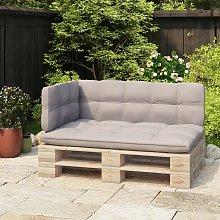 vidaXL Respaldo para sofá de palets 70 cm hierro