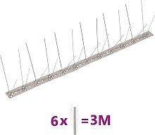 vidaXL Set de 6 hileras cuádruples puntas