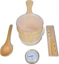 vidaXL Set de accesorios esenciales para Sauna (4
