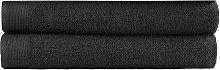 vidaXL Set de toalla de baño 2 uds algodón 450