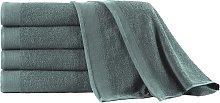 vidaXL Set de toalla de baño 5 uds algodón 450