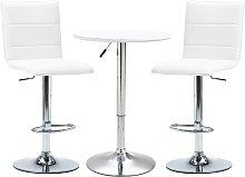 vidaXL Set mesa alta y taburetes de bar 3 pzas
