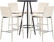 vidaXL Set mesa alta y taburetes de bar 5 piezas