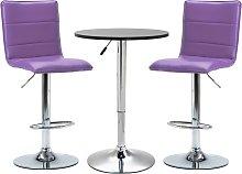 vidaXL Set mesa alta y taburetes de barra 3 pzas