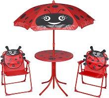 vidaXL Set mesa y sillas de jardín infantil 3