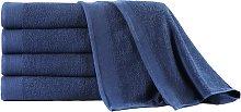 vidaXL Set toalla de baño 5 uds algodón 450 gsm