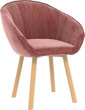 vidaXL Silla de comedor de terciopelo rosa