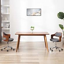 vidaXL Silla de oficina giratoria de madera