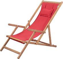 vidaXL Silla de playa plegable de tela y