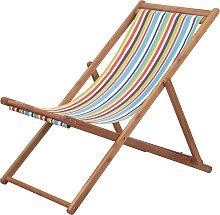 vidaXL Silla de playa plegable estructura madera y