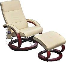 vidaXL Sillón de masaje eléctrico y reposapiés