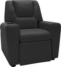 vidaXL Sillón infantil reclinable cuero