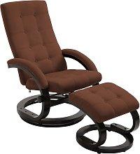 vidaXL Sillón reclinable con reposapiés tela