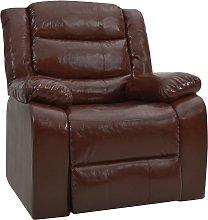 vidaXL Sillón reclinable cuero sintético marrón
