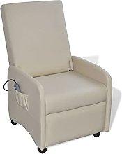 vidaXL Sillón reclinable de Cuero Artificial Piel