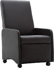 vidaXL Sillón reclinable de cuero sintético