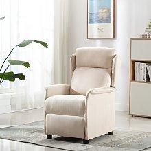 vidaXL Sillón reclinable de tela crema
