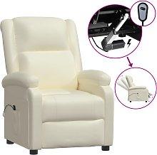 vidaXL Sillón reclinable eléctrico cuero