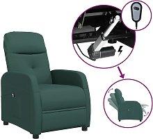 vidaXL Sillón reclinable eléctrico tela verde