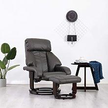 vidaXL Sillón reclinable para TV con reposapiés