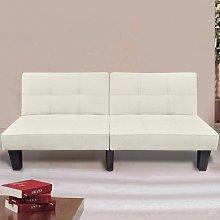 vidaXL Sofá cama ajustable beige