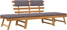 vidaXL Sofá cama de jardín 2 en 1 con cojín