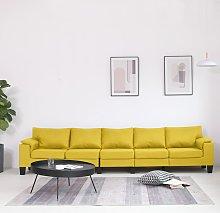vidaXL Sofá de 5 plazas de tela amarillo