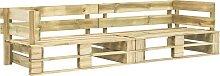 vidaXL Sofá de palés para jardín 2 plazas madera